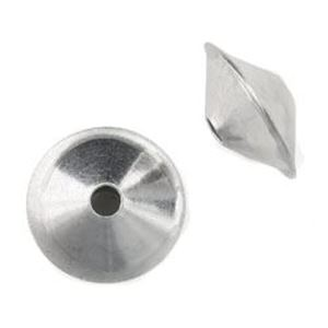 Picture of Sterling Silver Plain Dome Seam Beads 10mm<br />10 Beads