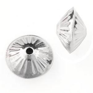 Picture of Sterling Silver Corrugated Dome Seam Beads 12mm<br />10 ~        Beads