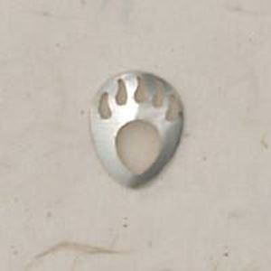 Picture of Sterling Silver Shadow Box Right Bear Paw Mini 12.5x10mm