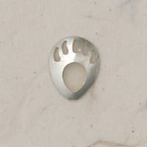 Picture of Sterling Silver Shadow Box Left Bear Paw Mini 12.5x10mm