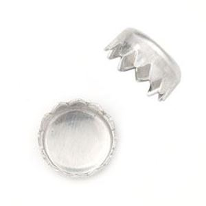 Picture of Sterling Silver Round Serrated Bezel Cup 4mm<br />10 Bezel ~ Cups