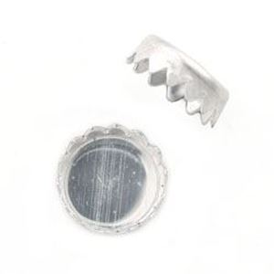 Picture of Sterling Silver Round Serrated Bezel Cups 5mm<br />10 Bezel ~ Cups