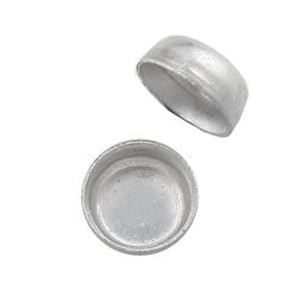 Picture of Sterling Silver Round Plain Bezel Cups 3mm<br />10 Bezel ~        Cups