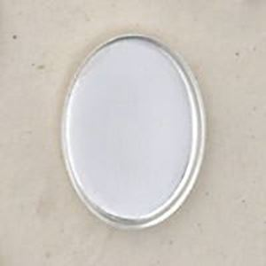 Picture of Sterling Silver Oval Plain Bezel Cup 13x18mm