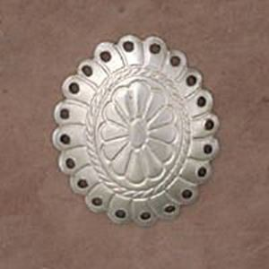 Picture of Sterling Silver Oval Concho With 20 Holes 15x18mm