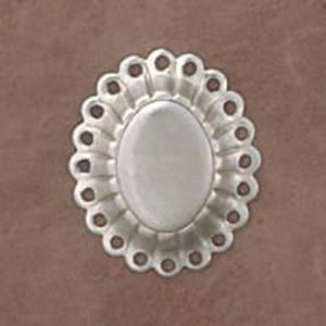 Picture of Sterling Silver Flat Concho With 20 Holes Small