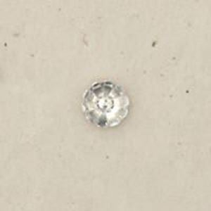 """Picture of Sterling Silver Stamped Rosette Small 1/4""""<br />10 Pieces"""