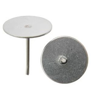 Picture of Surgical Steel Flat Ear Pad Post 10mm, 10 Pairs