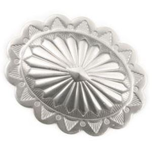 Picture of Nickel Silver Oval Concho 22 Gauge 34x44mm