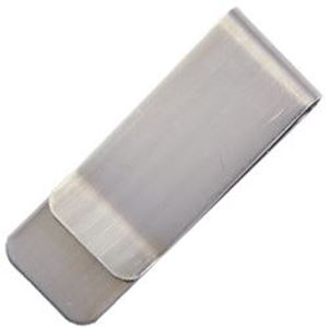 Picture of Nickel Silver Money Clip .75 Inch Wide 20 Gauge, unfinished.
