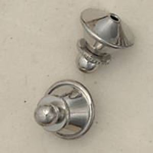 Picture of Nickel Plated Tie Tack Clutches<br />10 Clutches