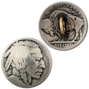 Picture of Nickel Indian Head Coin Button, 21mm