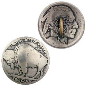 Picture of Nickel Buffalo Head Coin Button, 21mm