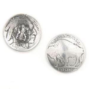 Picture of Base Metal Cast Buffalo Head Nickel Coin, 21mm