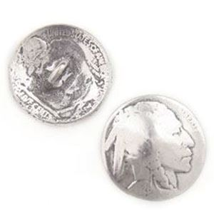Picture of Base Metal Cast Indian Head Nickel Coin, 20mm