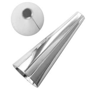 Picture of Silver Plated Cone 1Inch x 10mm base<br/> 4 pairs