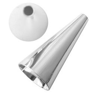 Picture of Silver Plated Cone 1Inch x 12mm base<br/> 4 pairs
