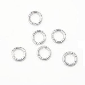 "Picture of Silver Plated Round Jump Ring 4mm, 0.028"", Sold per pkg of ~        50"