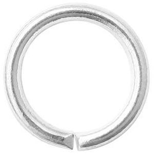 """Picture of Silver Plated Round Jump Ring 8mm, 0.038"""", Sold per pkg of ~        50"""