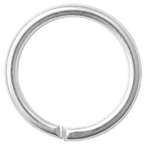 """Picture of Silver Plated Round Jump Ring 10mm, 0.036"""", Sold per pkg of ~        50"""