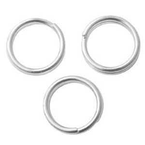 Picture of Silver Plated Split Rings 6mm<br />50 Split Rings