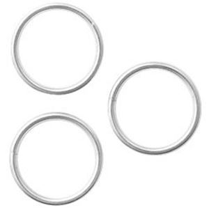 Picture of Silver Plated Round Split Ring 10mm, Sold per pkg of 50