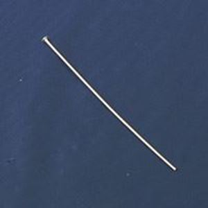 "Picture of Silver Plated Head Pins, 2"" x 0.027"", Sold per pkg of 100"