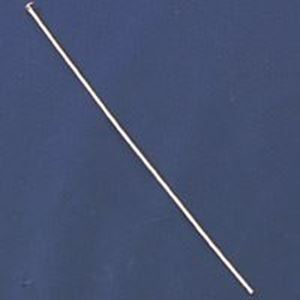 "Picture of Silver Plated Head Pins 2.5x0.027""<br />100 Head Pins"