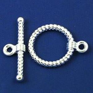 Picture of Silver Plated Toggle #3 17mm Loop 26mm Bar<br />10 Toggle ~        Sets