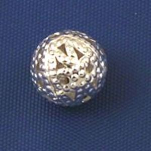 Picture of Silver Plated Filigree Beads 8mm<br />50 Beads