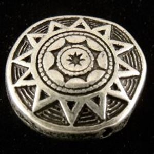 Picture of Silver Plated Indian Star Oxidized Beads 18mm,10 Beads