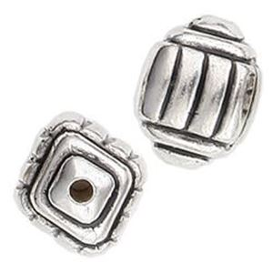 Picture of Silver Plated Hopi Bead 12x12mm<br />10 Beads