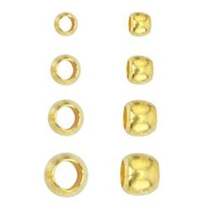 Picture of Beadalon Gold Plated Crimp Bead Variety Pack