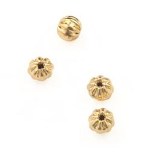 "Picture of Gold Plated Corrugated Beads  3mm 0.06""<br />50 Beads"