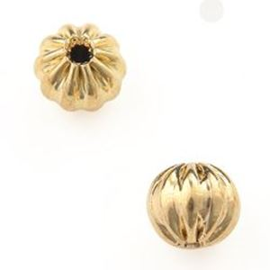 """Picture of Gold Plated Corrugated Beads 4mm 0.06""""<br />50 Beads"""
