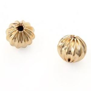 """Picture of Gold Plated Corrugated Beads 6mm 0.08""""<br />20 Beads"""