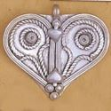 Picture of White Base Metal Heart Pendant 60mm
