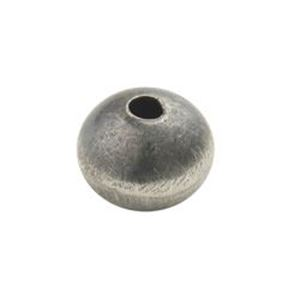 Picture of Sterling Silver Handmade Satin Bead 7x9mm