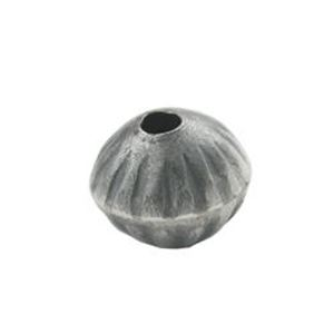 Picture of Sterling Silver Handmade Fluted Bead 7x9mm