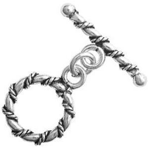 Picture of Silver Plated Toggle 16mm Loop 26mm Bar<br />1 Loop & 1 Bar