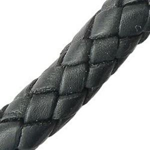 Picture of Black Leather Bolo Cord 8mm, Sold by the Inch