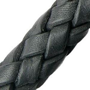 Picture of Black Leather Bolo Cord 10mm, Sold by the Inch