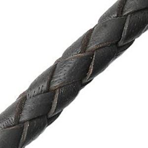 Picture of Dark Brown Leather Bolo Cord 6mm, Sold by the Inch