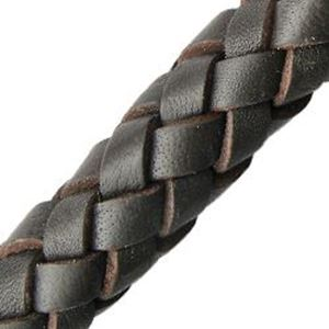 Picture of Dark Brown Leather Bolo Cord 10mm, Sold by the Inch