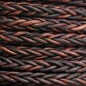 Picture of Brown Square Braided Leather Bolo 4mm, Sold by the Inch