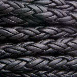 Picture of Black Braided Leather Bolo 4.5mm, Sold by the Inch