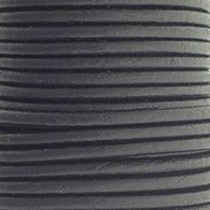 Picture of Black Leather Lace 2mm<br />Sold per 10-yard spool
