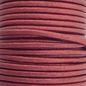 Picture of Brick Red Leather Lace 2mm<br />Sold per 10-yard spool