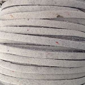 Picture of White Suede Lace 3mm<br />Sold per 20-yard spool