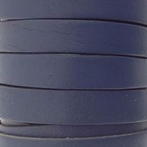 Picture of Blue Flat Leather 8mm<br />Sold per 5-yard spool